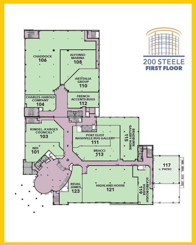 200 Steele First Floor Map