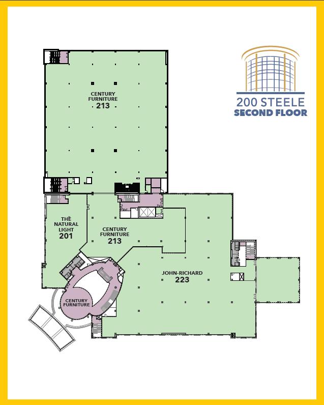 200 Steele Second Floor Map