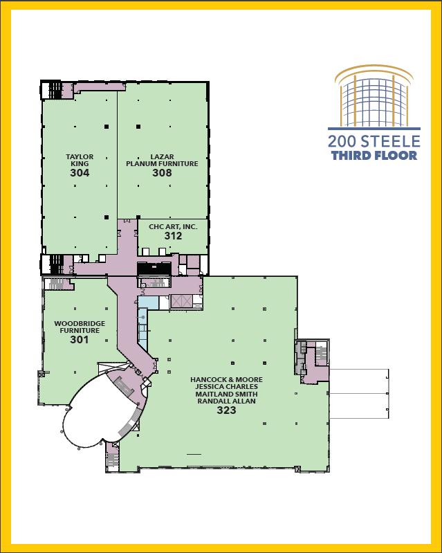 200 Steele Third Floor Map